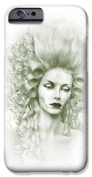 Countess iPhone Cases - Emerald Countess iPhone Case by Camille Lopez