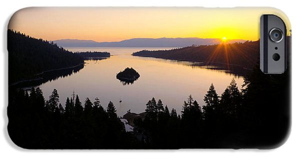 Lake Tahoe iPhone Cases - Emerald Dawn iPhone Case by Chad Dutson