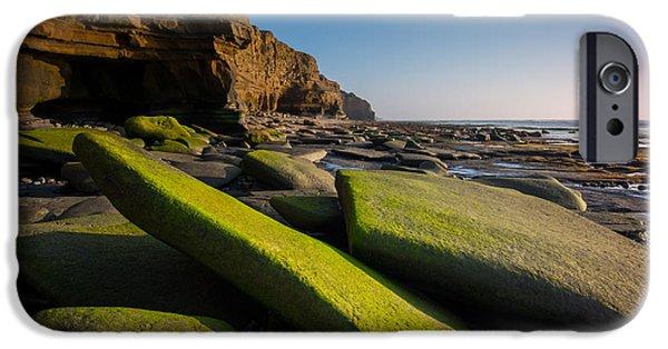 Ocean Sunset iPhone Cases - Emerald Edge iPhone Case by Joseph Smith