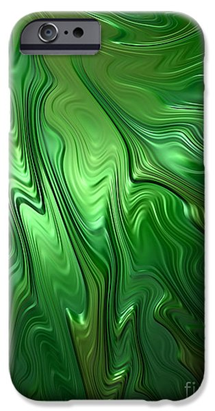 Emerald Green iPhone Cases - Emerald Flow iPhone Case by John Edwards