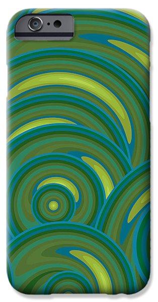 Emerald Green Abstract iPhone Case by Frank Tschakert