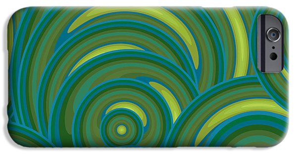Emerald Green iPhone Cases - Emerald Green Abstract iPhone Case by Frank Tschakert