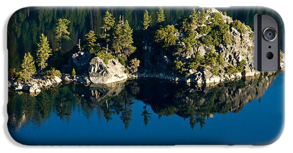 Reflecting Trees iPhone Cases - Emerald Isle iPhone Case by Bill Gallagher
