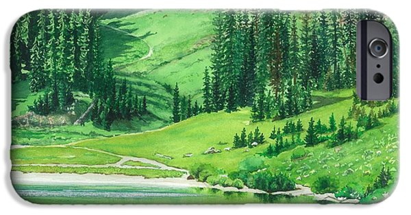 Biological Paintings iPhone Cases - Emerald Lake iPhone Case by Barbara Jewell