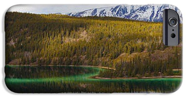 Calcium Carbonate iPhone Cases - Emerald Lake Panorama Carcross Yukon iPhone Case by Blake Kent