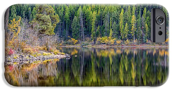 Forest iPhone Cases - Emerald Reflections iPhone Case by Jon Erdmann