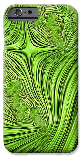 Fractal iPhone Cases - Emerald Scream iPhone Case by John Edwards