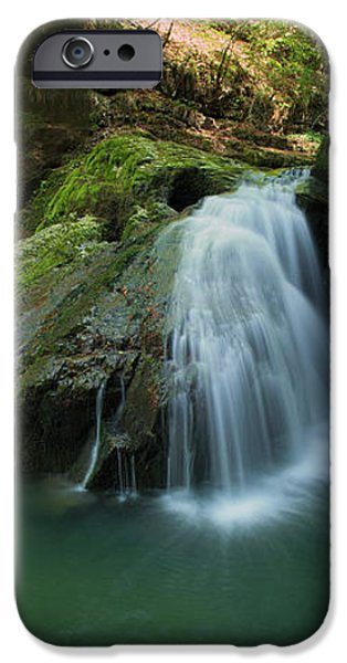 Emerald waterfall iPhone Case by Davorin Mance