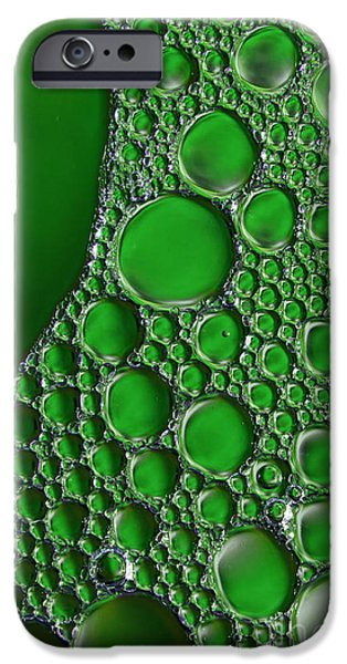 Emerald Green Abstract iPhone Cases - Emeralds iPhone Case by Sharon  Talson