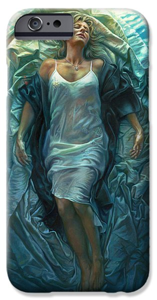 Religious Art iPhone Cases - Emerge Lighter Version iPhone Case by Mia Tavonatti
