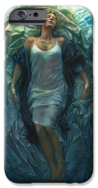Religious Art iPhone Cases - Emerge Painting iPhone Case by Mia Tavonatti