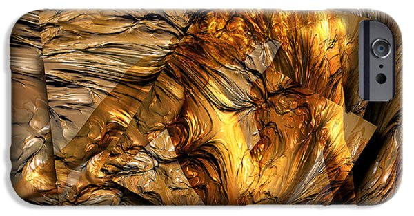 Sensual Mixed Media iPhone Cases - Emerge iPhone Case by Photodream Art