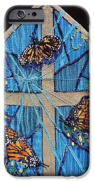Insects Tapestries - Textiles iPhone Cases - Emergence iPhone Case by Annelle Woggon