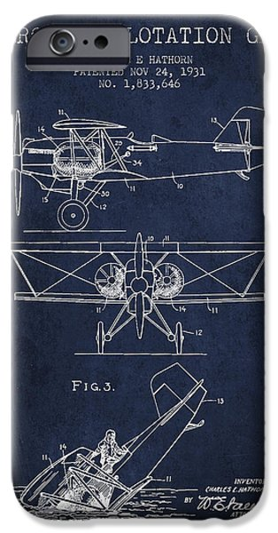 Emergency iPhone Cases - Emergency flotation gear patent Drawing from 1931 iPhone Case by Aged Pixel