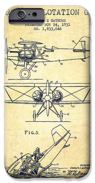 Emergency iPhone Cases - Emergency flotation gear patent Drawing from 1931-Vintage iPhone Case by Aged Pixel