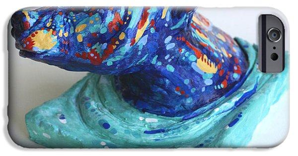 Vivid Ceramics iPhone Cases - Emerging Bear iPhone Case by Derrick Higgins