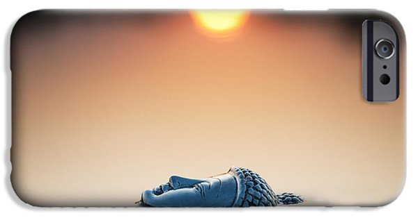 Contemplation iPhone Cases - Emerging Buddha iPhone Case by Tim Gainey