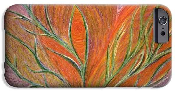 Spiritual Pastels iPhone Cases - Emerging Heart iPhone Case by Jamie Rogers