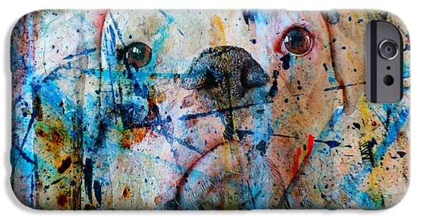 Boxer Digital Art iPhone Cases - Emerging iPhone Case by Judy Wood