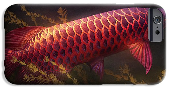 Aquatic Plants iPhone Cases - Emerging Red iPhone Case by Javier Lazo