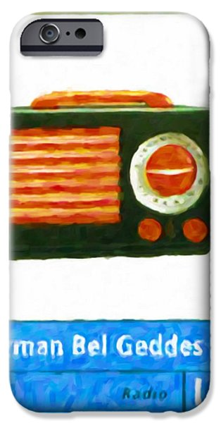 Old Pitcher Paintings iPhone Cases - Emerson  Patriot  Radio iPhone Case by Lanjee Chee