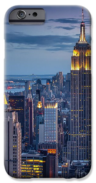 Empire State iPhone Cases - Empire State iPhone Case by Marco Crupi