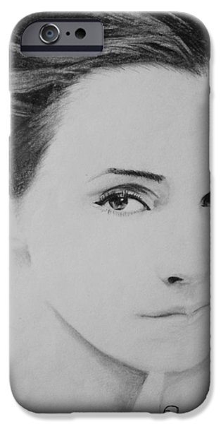 Prince Harry iPhone Cases - Emma Watson Minimalist iPhone Case by Jaedin Always