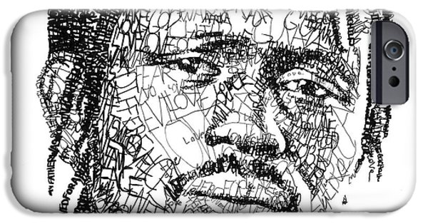 War iPhone Cases - Emmanuel Jal iPhone Case by Michael  Volpicelli