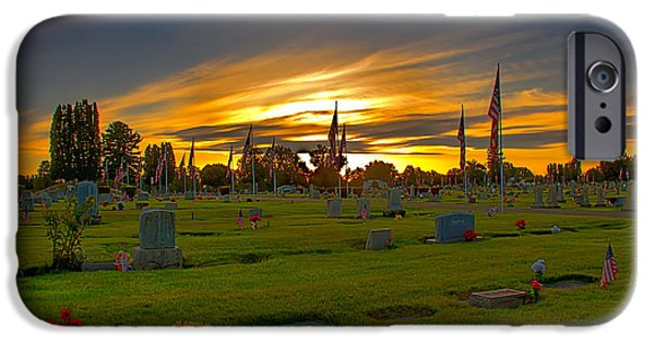 Emmett iPhone Cases - Emmett Cemetery iPhone Case by Robert Bales