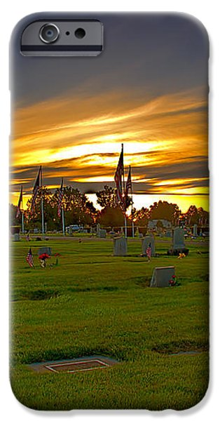 Emmett Cemetery iPhone Case by Robert Bales