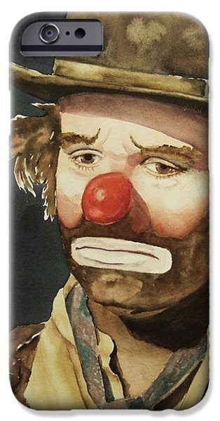 Emmett iPhone Cases - Emmett Kelly iPhone Case by Linda Halom