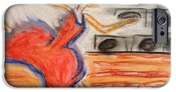 Escape Pastels iPhone Cases - Emotional dance iPhone Case by Amanda Schroeder