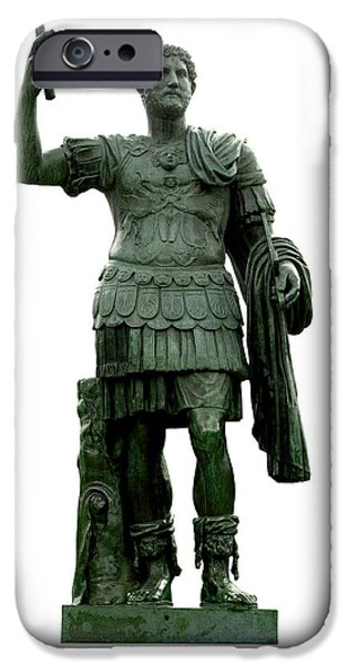 Cut-outs iPhone Cases - Emperor Hadrian iPhone Case by Fabrizio Troiani