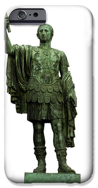 Cut-outs iPhone Cases - Emperor Marcus Cocceius Nerva iPhone Case by Fabrizio Troiani