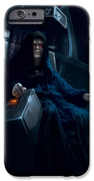 Emperor iPhone Cases - Emperor Palpatine iPhone Case by Ryan Barger