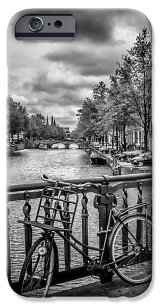 Old Town Digital iPhone Cases - Emperors Canal Amsterdam iPhone Case by Melanie Viola