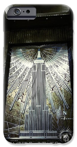 Empire State iPhone Cases - Empire Art Deco iPhone Case by Natasha Marco
