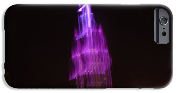 Empire State iPhone Cases - Empire Light Blur iPhone Case by Paulo Guimaraes