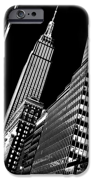 Empire State Building iPhone Cases - Empire Perspective iPhone Case by Az Jackson