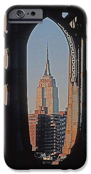 Empire State iPhone Cases - Empire Sate Blgd. iPhone Case by Bruce Bain
