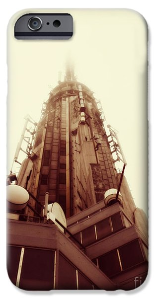 Empire State Pyrography iPhone Cases - Empire Spire iPhone Case by Kat Cuff