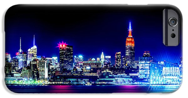 New Jersey iPhone Cases - Empire State At Night iPhone Case by Az Jackson