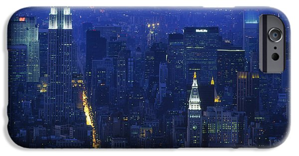 1980s iPhone Cases - Empire State Building 1980s - New York City iPhone Case by Mountain Dreams