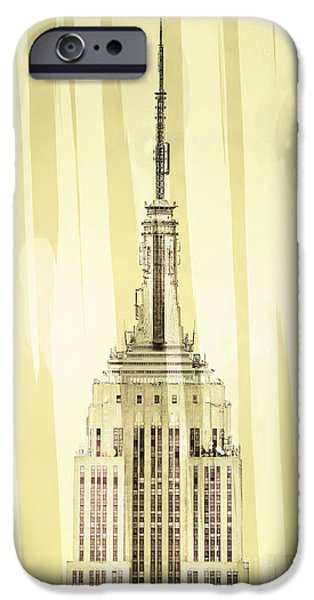 Empire State Digital iPhone Cases - Empire State Building 2 iPhone Case by Az Jackson