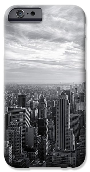 Empire State Building and Midtown Manhattan Black and White iPhone Case by Sabine Jacobs