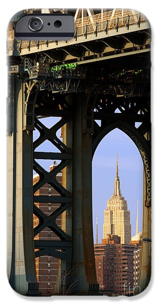 Empire State iPhone Cases - Empire State Building iPhone Case by Brian Jannsen