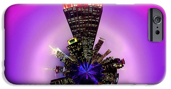 Empire State Building iPhone Cases - Empire State Building Circagraph iPhone Case by Az Jackson