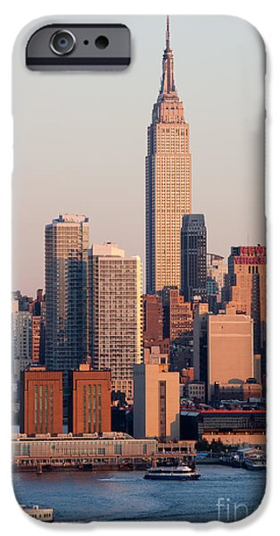 Hudson River iPhone Cases - Empire State Building III iPhone Case by Clarence Holmes
