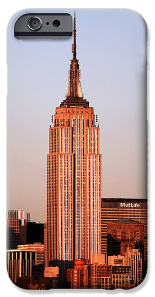 Empire State iPhone Cases - Empire State Building iPhone Case by John Rizzuto