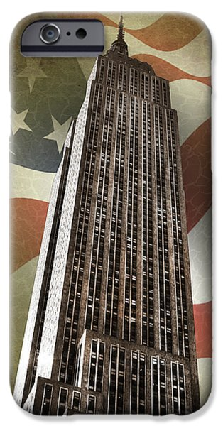 Empire State iPhone Cases - Empire State Building iPhone Case by Mark Rogan